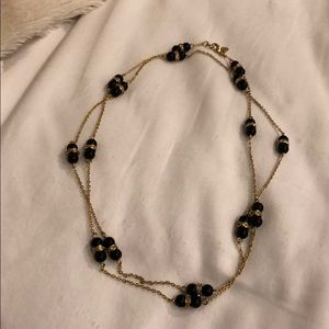 JCrew black and gold necklace